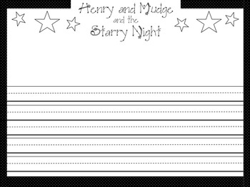 Henry and Mudge and the Starry Night Writing Paper