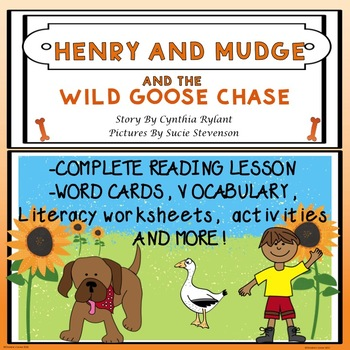 Henry and Mudge and the Wild Goose Chase Guided Reading Novel Study  No Prep