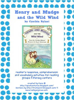 Henry and Mudge and the Wild Wind Literature Study Packet