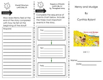 Henry and Mudge - by Cynthia Rylant - Journeys Common Core