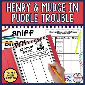 Henry and Mudge in Puddle Trouble Comprehension Activities
