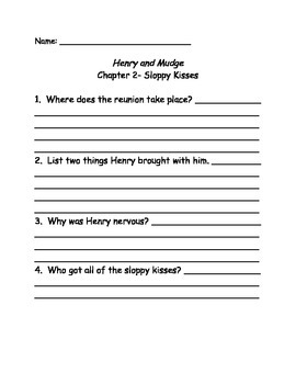 Henry and Mudge in the Family Trees Comprehension Questions