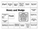 """""""Henry and Mudge"""" the first book Journeys comprehension game board"""
