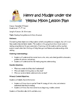 Henry and Mudge under the Yellow Moon Lesson Plan