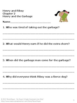 Henry and Ribsy Book Unit