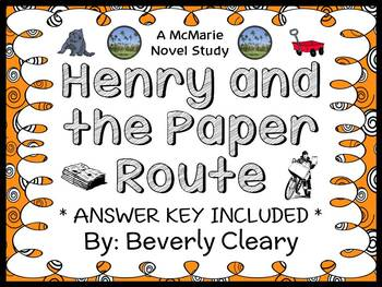 Henry and the Paper Route (Beverly Cleary) Novel Study / Reading Comprehension