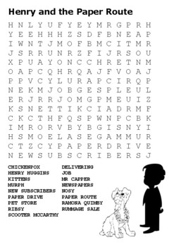 Henry and the Paper Route Word Search