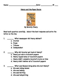 Henry and the Paper Route by Beverly Cleary Book Test