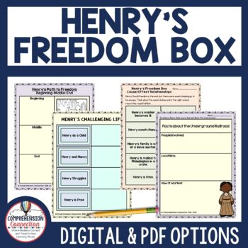 Henrys Freedom Box Book Companion And Lapbook