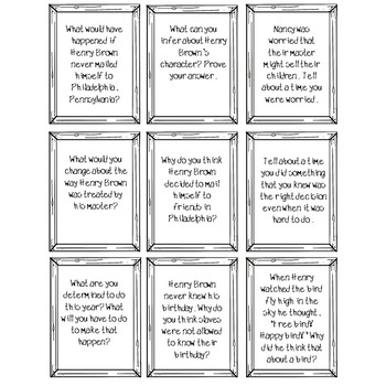 Henry's Freedom Box Higher Level Thinking Task Cards