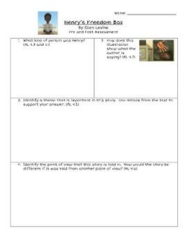 Henry's Freedom Box Historical Fiction Assessment