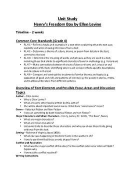 Henry's Freedom Box Unit Study