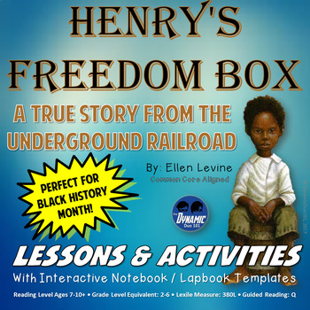 Henry's Freedom Box with Interactive Notebook / Lapbook Activities
