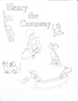 Henry the Castaway coloring collage