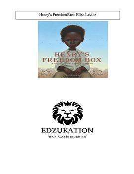 Henry's Freedom Box Ellen Levine Caldecott Common Core Reading Book Unit Study