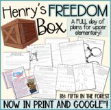 Henry's Freedom Box FULL DAY of Lesson Plans for Distance