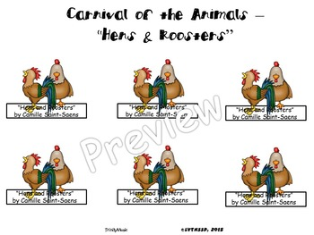 Hens and Roosters from Carnival of the Animals (Finger Puppets)