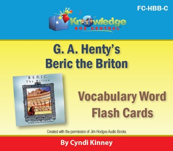 Henty's Historical Novel:  A Knight of the White Cross Vocabulary Flash Cards