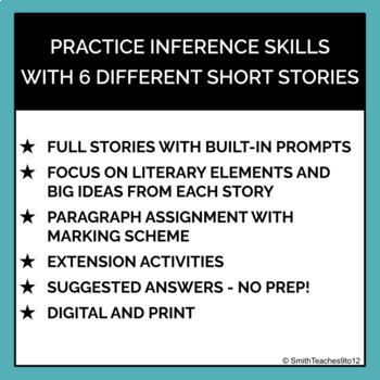 ONE TIME LESSONS *BUNDLE* - Short story inference lessons - ELA