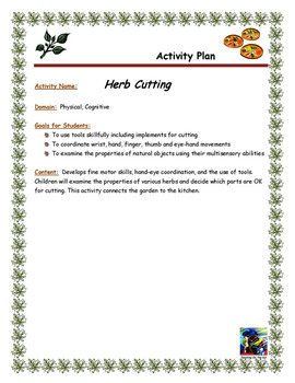 Herb Cutting Activity Plan