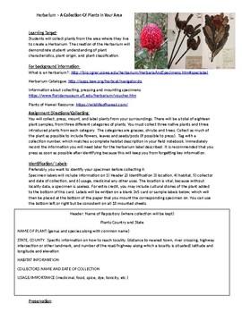 Herbarium Assignment