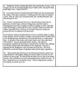 Herbert Hoover Article Activity