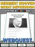 Herbert Hoover (Great Depression) - Webquest and Key (Google Doc Included)