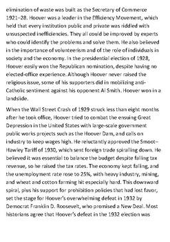 Herbert Hoover Handout