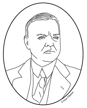 Herbert Hoover (31st President) Clip Art, Coloring Page or Mini Poster