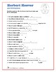 Herbert Hoover - Hidden Message Word Search and Fill in the Blanks