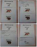 Herbivore, Carnivore, and Omnivore Flip Book