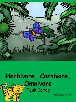 Herbivores, Carnivores, and Ominvores Task Cards