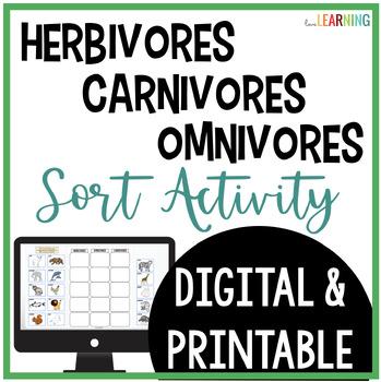 Herbivores, Omnivores, and Carnivores SORT Activity