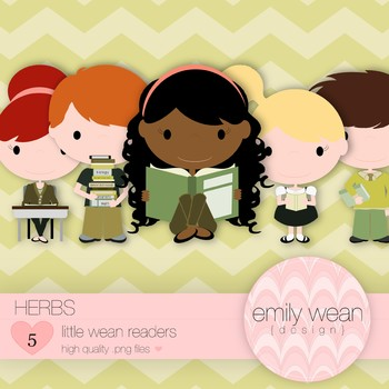 Herbs - Little Readers Clip Art