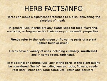 Herbs & Spices Powerpoint