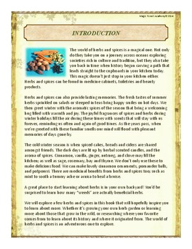 Herbs & Spices Themed Nature Education Unit-Stage 2 (Magic Forest Academy)