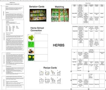 Herbs, a unit of study, using the 5 senses