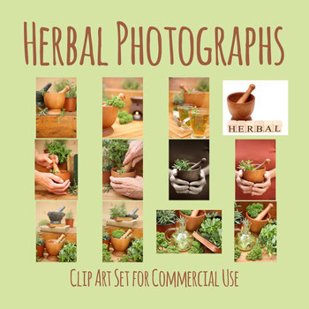 Herbs and Herbal Photos / Photograph Clip Art Set Commercial Use