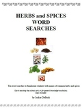 Herbs and Spices Word Searches