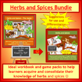 Herbs and Spices workbook and game BUNDLE