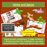 Herbs and Spices workbook pack