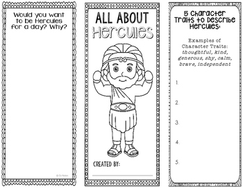Hercules - Greek Mythology Biography Research Project - Interactive Notebook