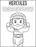 Hercules, Greek Mythology Informational Text Coloring Page