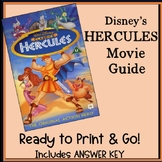 Hercules Movie- Student Viewing Guide plus Answer Key
