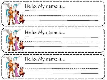 Hercules Name Tags