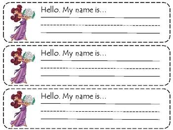 Hercules Name Tags