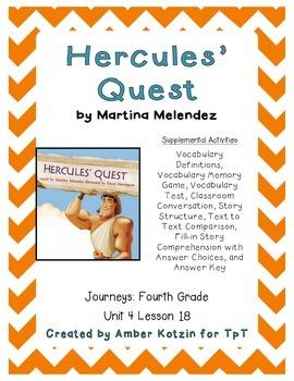 Hercules' Quest Supplemental Activities 4th Grade Journeys