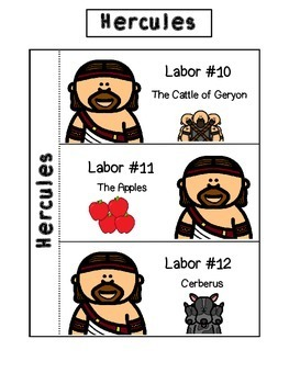 Hercules and the Twelve Labors Interactive Notebook Activity