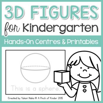 3D Figures for Kindergarten: Hands-On Centres & Printables