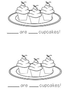 #christmasinjuly Here Are The Cupcakes!  Kindergarten Sight Word Reader